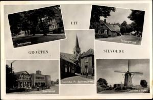 Ak Silvolde Gelderland, Terborgseweg, Boterfabriek, Gerritsen's Molen