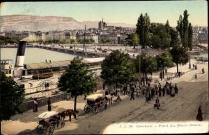 Ak Genève Genf Schweiz, Pont du Mont Blanc