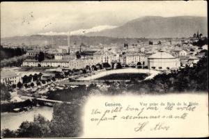 Ak Genève Genf Schweiz, Vue prise de Bois de la Batie