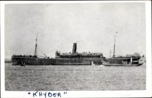 Ak Steamer Khyber, Dampfschiff, P&O