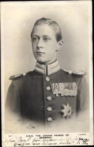 Ak Kronprinz Wilhelm von Preußen, Portrait