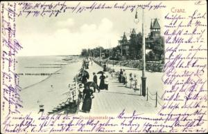 Ak Selenogradsk Cranz Ostpreußen, Strandpromenade