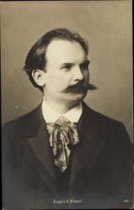 Ak Komponist Eugen d'Albert
