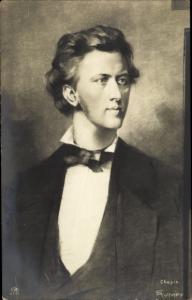 Künstler Ak Rumpf, E., Komponist Frédéric Chopin, Pianist, Klavierkomponist, Portrait