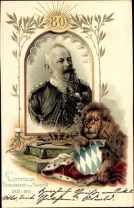 Wappen Litho Prinzregent Luitpold von Bayern, Löwe