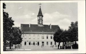 Ak Belgern Schildau Nordsachsen, Gneisenaustadt, Rathaus