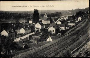 Ak La Celle sur Seine Seine-et-Marne, Vue Generale et Ligne