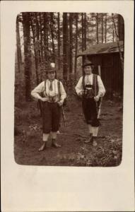 Foto Ak Frauen in Jagdmontur