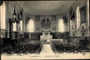 Ak Le Bourget Seine Saint Denis, Interieur de l'Eglise