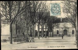 Ak Le Bourget Seine Saint Denis, La Mairie et l'Epee Brisee
