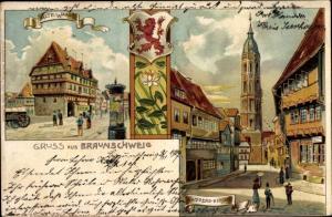Ak Braunschweig in Niedersachsen, Alte Waage, Andreaskirche