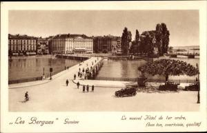 Ak Genève Genf Schweiz, Les Berques, Le nouvel Hotel de 1er ordre