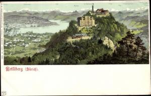 Ak Zürich Stadt Schweiz, Uetliberg, Urirotstock, Glärnisch, Landschaft