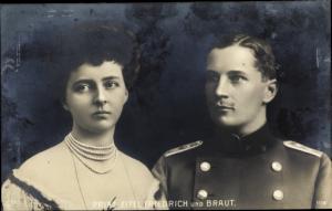 Ak Eitel Friedrich Prinz von Preußen, Sophie Charlotte von Oldenburg