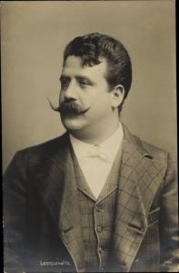 Ak Komponist Ruggero Leoncavallo