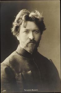 Ak Komponist Feruccio Busoni