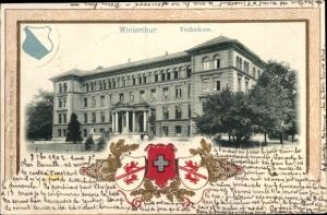 Wappen Ak Winterthur Kt Zürich Schweiz, Technikum, Wappen