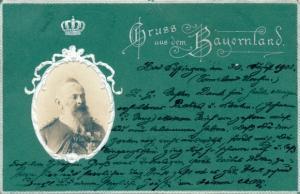 Präge Ak, Prinzregent Luidpold von Bayern