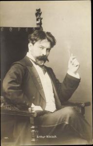 Ak Ungarischer Dirigent Arthur Nikisch, Portrait, Zigarette