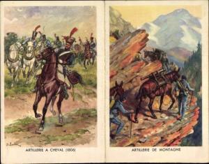 Klapp Künstler Ak Engagements dans les Troupes, Artillerie a Cheval, de Montagne