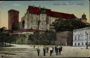 Ak Kraków Krakau Polen, Wawel Königsschloss