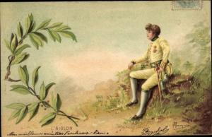 Künstler Litho L'Aiglon, Napoleon Bonaparte, Kaiser Napoleon I.