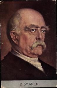 Künstler Ak Fürst Otto von Bismarck
