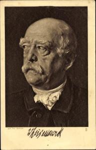 Künstler Ak Petersen, Fürst Otto von Bismarck