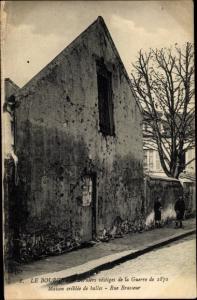Ak Le Bourget Seine Saint Denis, Derniers vestiges de la Guerre de 1870