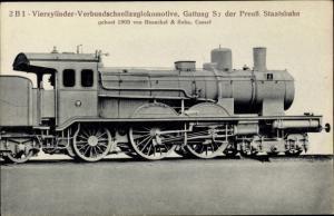 Ak Verbund Schnellzug Lokomotive S 7, Preußische Staatsbahn, Henschel & Sohn