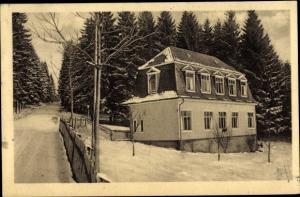 Ak Elgershausen Schauenburg Nordhessen, Waldhof im Winter