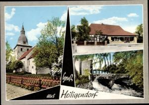 Ak Heiligendorf Wolfsburg in Niedersachsen, Kirche, Handlung, Flusspartie