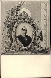 Passepartout Ak Kaiser Wilhelm II. von Preußen