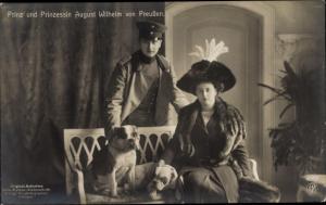 Ak August Wilhelm Prinz von Preußen,  Alexandra Viktoria von Schleswig-Holstein