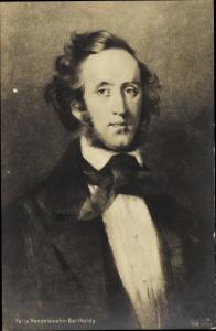 Künstler Ak Komponist Felix Mendelssohn Bartholdy