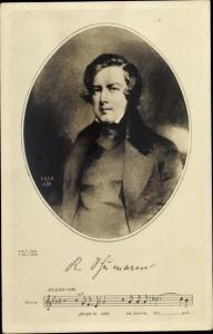 Künstler Ak Komponist Robert Schumann, Ich grolle nicht, Notenpartitur