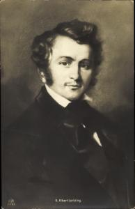 Künstler Ak Komponist Gustav Albert Lortzing