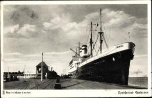 Ak Cuxhaven in Niedersachsen, HAPAG Dampfer SS Deutschland, Schnelldampfer