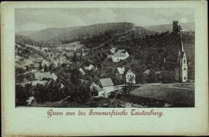 Ak Tautenburg im Saale Holzland Kreis, Panorama