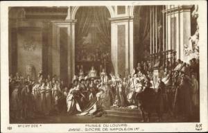 Künstler Ak David, Sacre de Napoleon 1er, Napoleon Bonaparte, Kaiser Napoleon I.