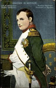 Künstler Ak Souvenir de Waterloo, Napoleon Bonaparte, Kaiser Napoleon I.