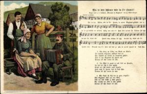 Lied Ak Mückenberger, Hilmar, Qu is den schäner wie in d'r hamit, Soldat, Akkordeon, Bauern