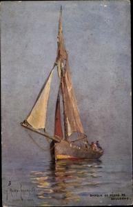 Künstler Ak Boulogne sur Mer Pas de Calais, Barque de Peche
