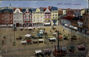 Ak Ostrava Mährisch Ostrau Region Mährisch Schlesien, Ringplatz