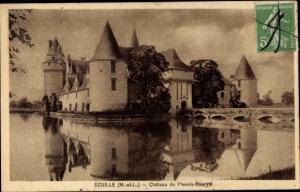 Ak Écuillé Maine et Loire, Chateau du Plessis-Bourre