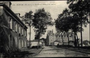 Ak Durtal Maine et Loire, La Gendarmerie et le Chateau