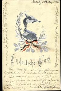 Präge Litho Fürst Otto von Bismarck, Ein deutscher Gruß