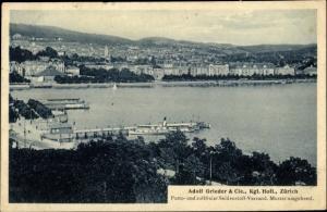 Ak Zürich Stadt Schweiz, Zürichsee, Dampfer Speer