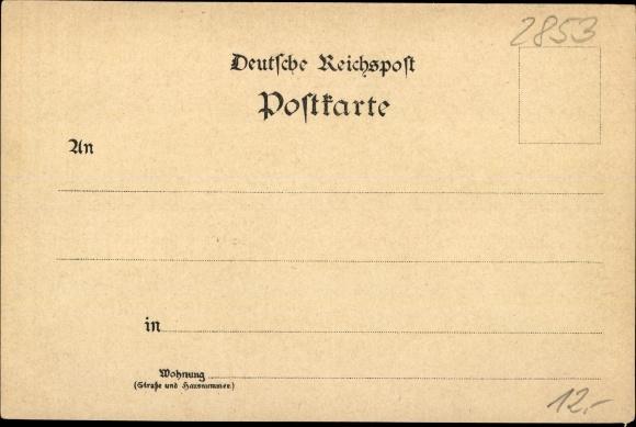Litho Dorum Wurster Nordseeküste Landkreis Cuxhaven, Volksschule, Apotheke, Postamt, Hotel 1