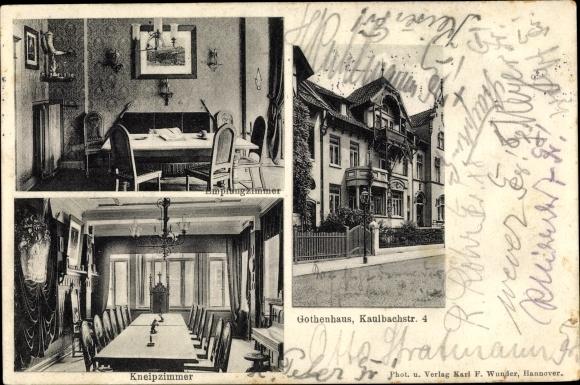 Ak Hannover in Niedersachsen, Gothenhaus, Kaulbacherstraße 4, Kneipzimmer, Innenansicht 0